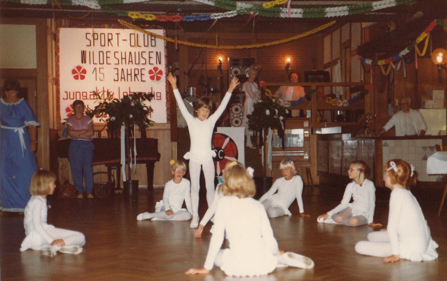 Ballett-Tanz bei Festball 15 Jahre SCW 1983